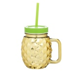 Kubek słoiczek Pineapple Kitchen Craft 0,5l złoty