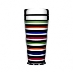 Kubek termiczny 0,4 l Sagaform Adventure kolorowe paski