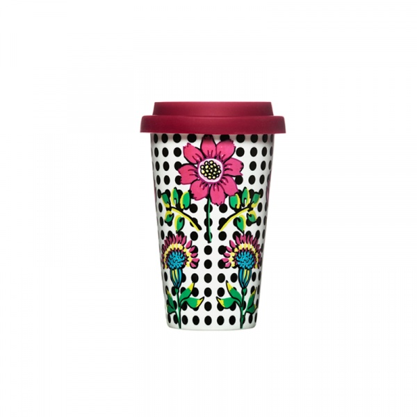 Kubek termiczny Bloom 0,25 l Sagaform Cafe Bloom porcelana SF-5017103