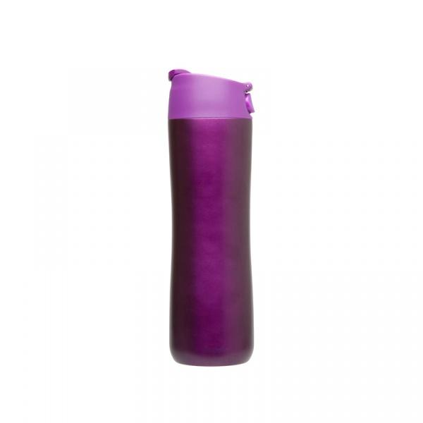Kubek termiczny jednoręczny 0,47 l Aladdin Flip & Sip fioletowy AL-10-01425-007