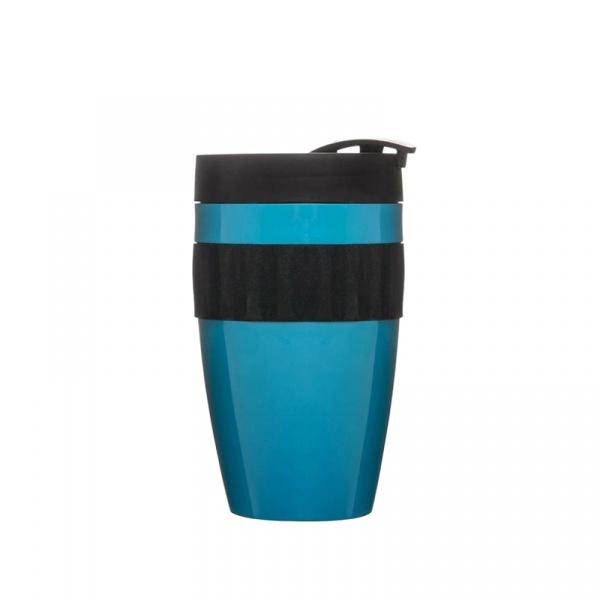 Kubek termiczny plastikowy 0,4 l Sagaform Cafe turkusowo-czarny SF-5017156