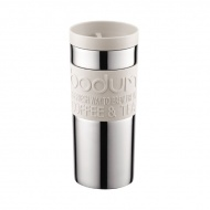 Kubek termiczny próżniowy 0,35L Bodum Travel Mug biały