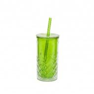 Kubek termiczny + słomka 0,47 l Aladdin zielony