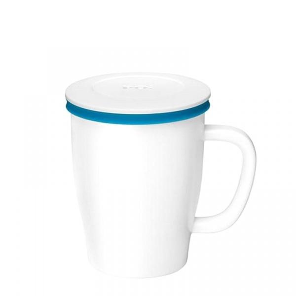 Kubek z zaparzaczem 350 ml PO: Ming biało-niebieski P14743