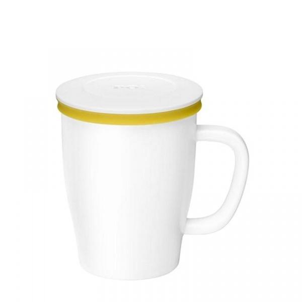 Kubek z zaparzaczem 350 ml PO: Ming biało-żółty 14742