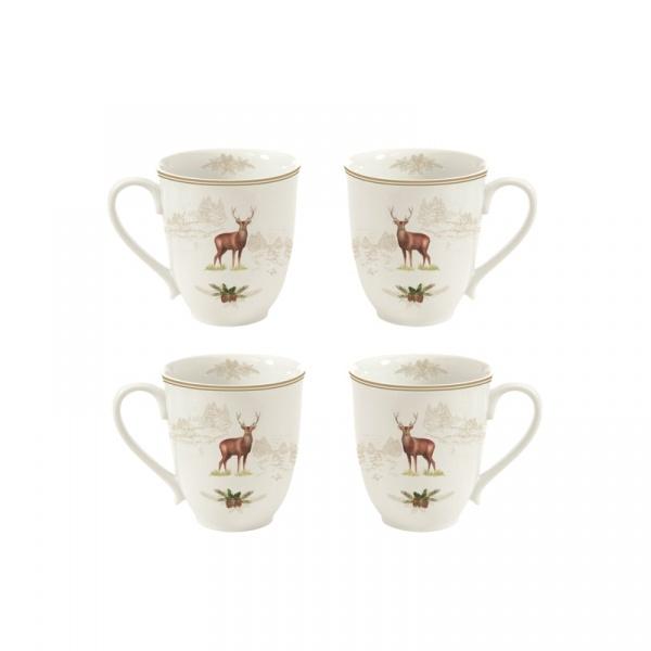 Kubki porcelanowe 4 szt. Nuova R2S Deer 1062 DEER