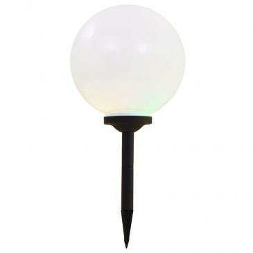 Kuliste lampy solarne na zewnątrz, 2 szt., LED, 30 cm, RGB