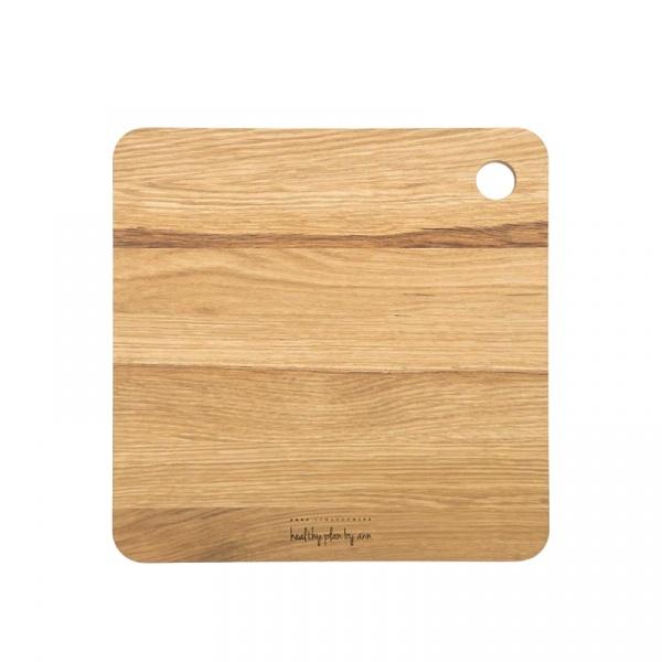 Kwadratowa deska drewniana 27 x 27 cm Healthy Plan By Ann - Anna Lewandowska DDK001