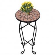 Kwietnik, stolik z mozaikowym blatem