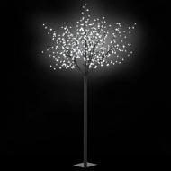Kwitnące drzewko świąteczne LED, IP44, 250 cm, białe