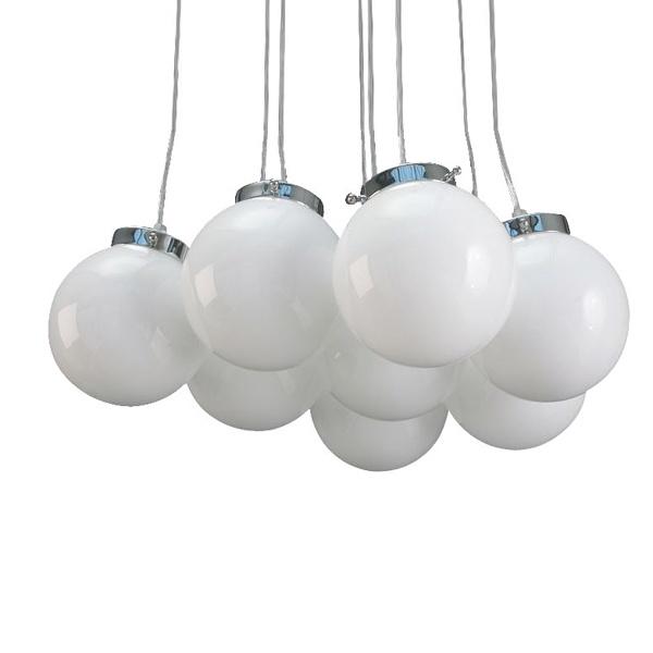 Lampa Białe Perły XL 8 szt. 20 cm śr DK-13914