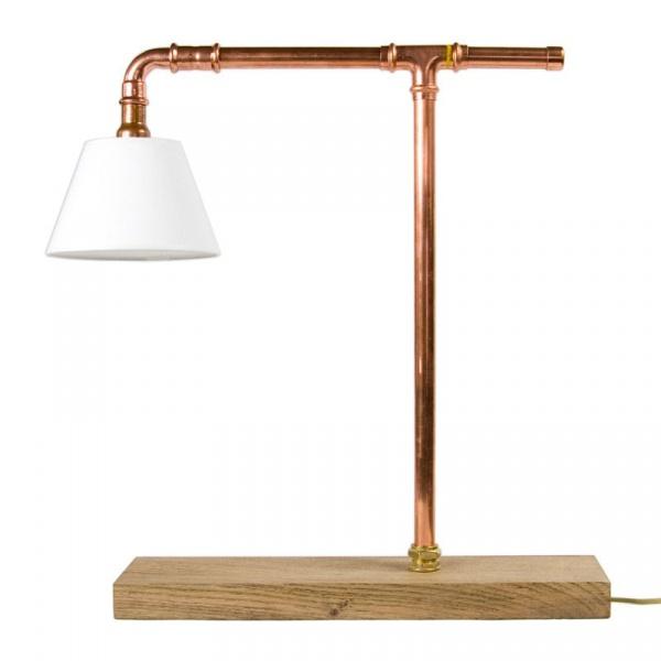 Lampa biurkowa Gie El miedziana LGH0040