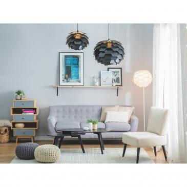 Lampa czarna - sufitowa - żyrandol - lampa wisząca -SEGRE mała
