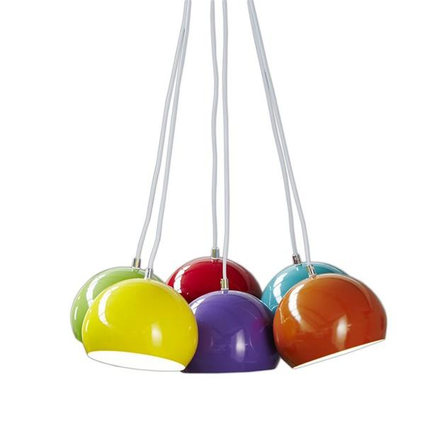 Lampa kolorowe Perły 6 szt. 20 cm śr DK-24336