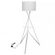 Lampa podłogowa Nietypowy stelaż Biała