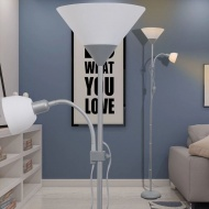 Lampa podłogowa szara