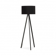Lampa podłogowa Trivet Kokoon Design czarny czarne nogi