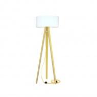 Lampa podłogowa Wanda Ragaba żółta biały abażur z żółtym kablem
