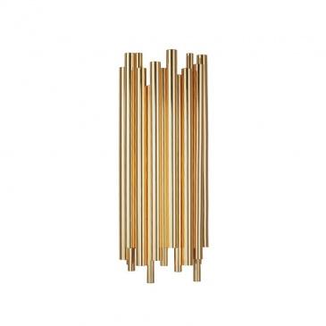 Lampa ścienna TUBO złota 50 cm