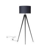 Lampa stojąca czarna - podłogowa - oświetlenie - Persico