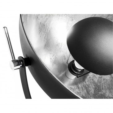 Lampa stojąca czarno-srebrna 165 cm THAMES II