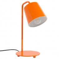 Lampa stołowa biurkowa pomarańczowa metal Latempa