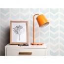 Lampa stołowa biurkowa pomarańczowa metal TARIM