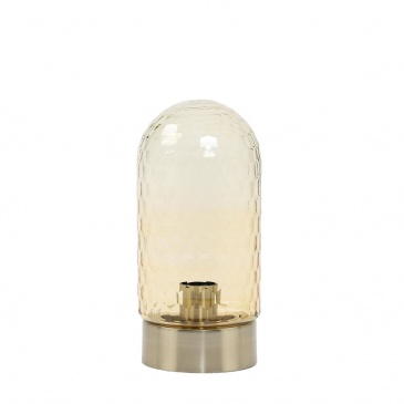 Lampa stołowa Domani amber/antyczny brąz