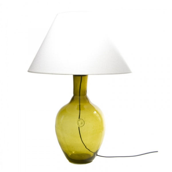 Lampa stołowa Gie El oliwkowy LGH0072