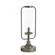 Lampa stołowa LED Raddie czarna/brązowa