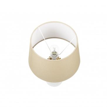 Lampa stołowa złota/biała 43 cm VELISE