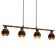 Lampa sufitowa, czarna, 82 cm, E14