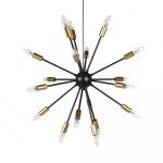 Lampa wisząca 18-punktowa metalowa czarna MAGUSE