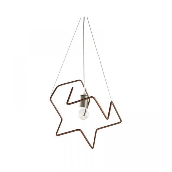 Lampa wisząca 35x34cm Copper Gie El Botanica miedź LGH0431