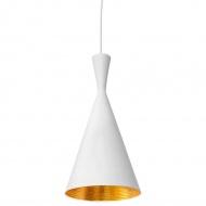 Lampa wisząca Bet Shade Tall King Home 18,5cm biało-złota