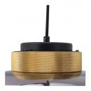Lampa wisząca BOOM LED bursztynowo złota 35 cm
