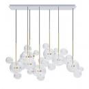 Lampa wisząca CAPRI LINE 7 złota - LED, aluminium, szkło