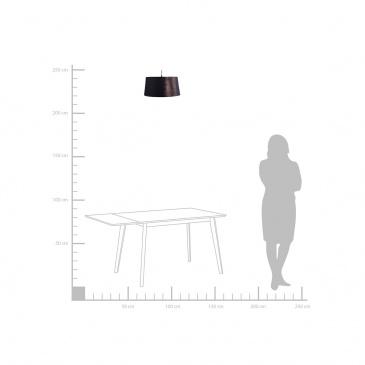 Lampa wisząca czarno-miedziana Kallar BLmeble