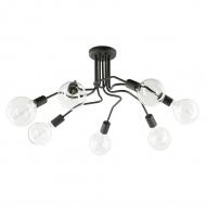 Lampa wisząca Lampex Sebastiano 7 czarna