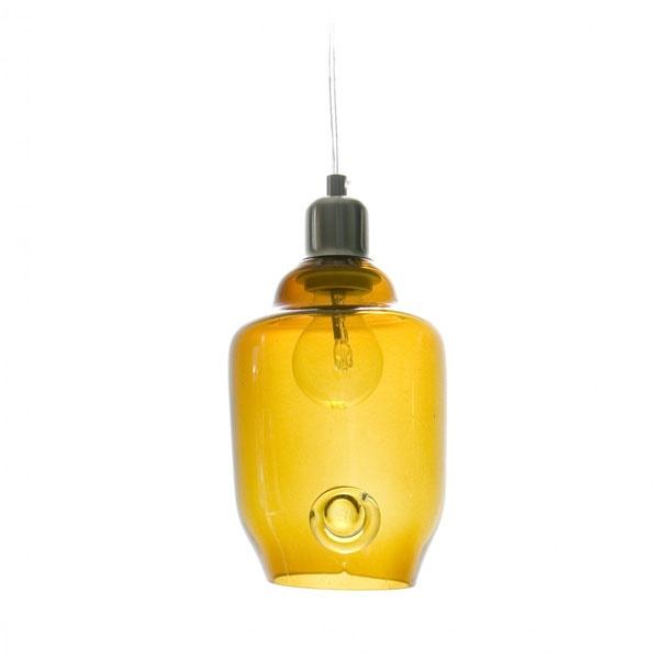 Lampa wisząca mała Gie El miodowy LGH0060