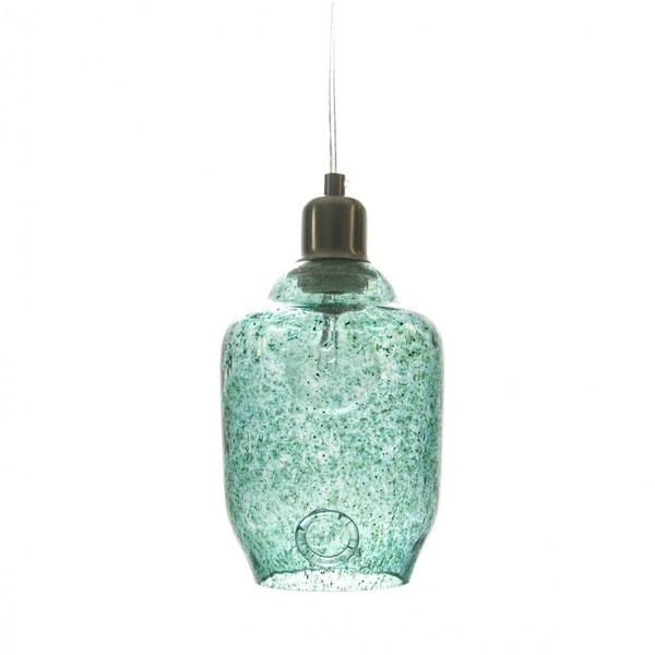 Lampa wisząca mała Gie El turkusowy LGH0061