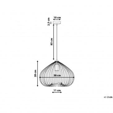 Lampa wisząca miedziana metal TORDINO