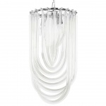 Lampa wisząca MURANO L chrom - szkło, metal