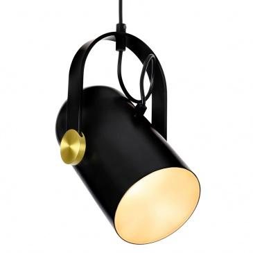 Lampa wisząca RIO czarna - mosiądz