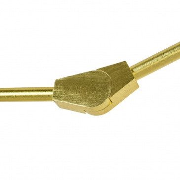 Lampa wisząca SPLIT 6 GOLD - aluminium, szkło