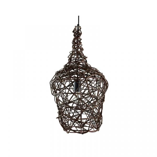 Lampa wisząca wiklinowa 60x34cm Willow Gie El Botanica LGH0441
