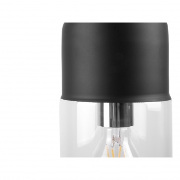 Lampa wisząca ze szkła czarna i przezroczysta Guglielmo