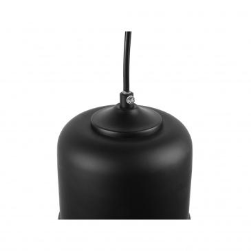 Lampa wisząca ze szkła czarna i przezroczysta PURUS