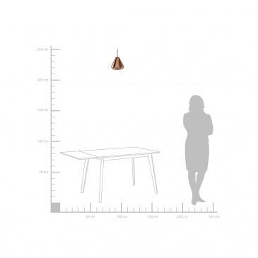 Lampa wisząca ze szkła w kolorze miedzianym Crispino