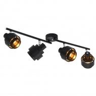 Lampa z 4 reflektorami, czarna, E14
